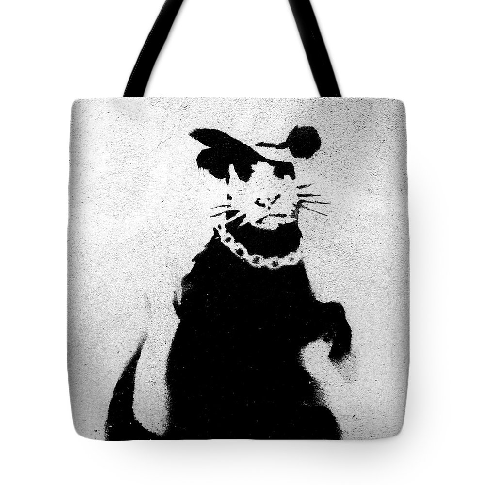 Bling Tote Bag featuring the photograph Bling Rat by A Rey