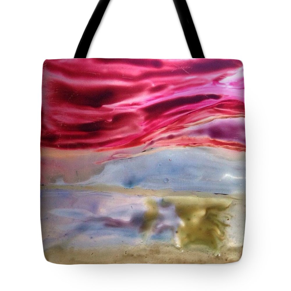 Watercolor Tote Bag featuring the painting Block 14 by Gloria Houlne