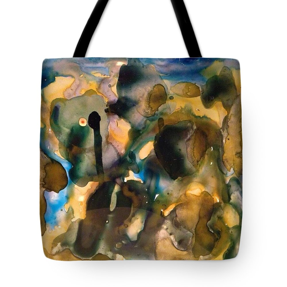 Watercolor Tote Bag featuring the painting Block15 by Gloria Houlne