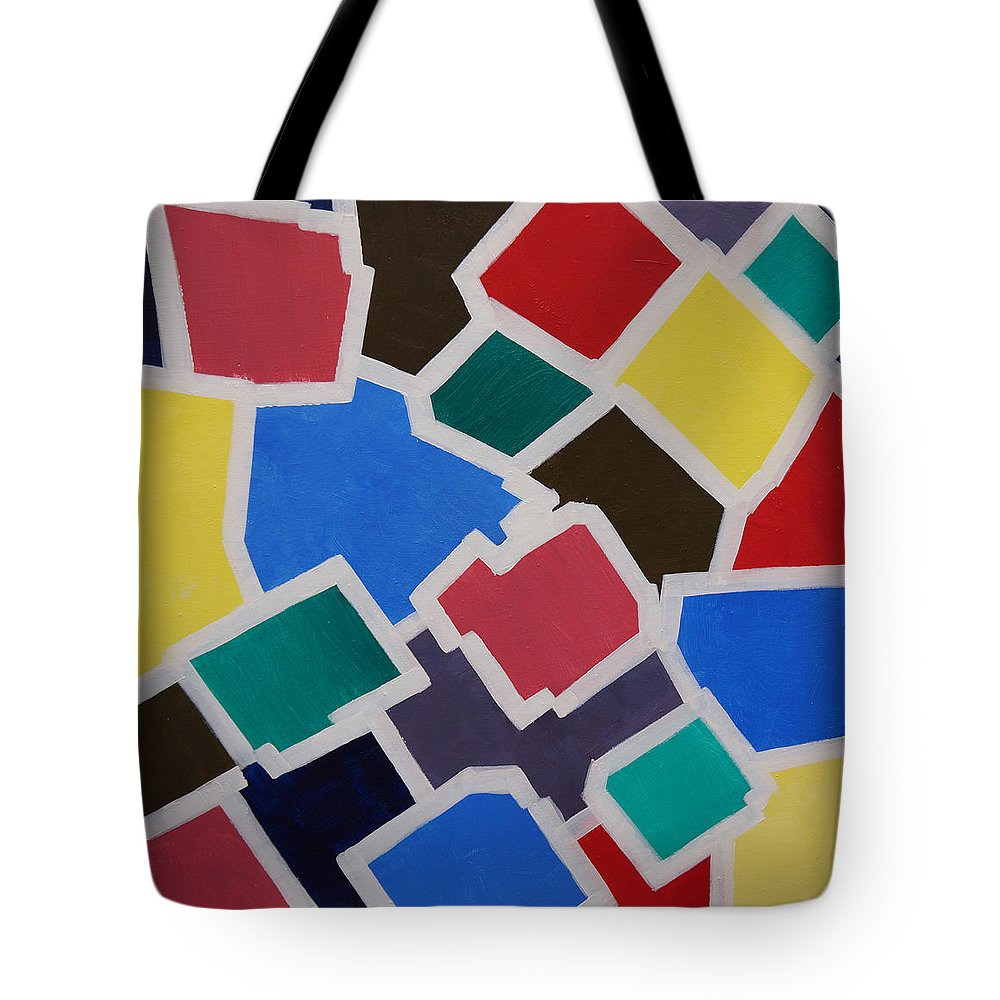 Acrylic Tote Bag featuring the painting Outside the Box by Sergey Bezhinets