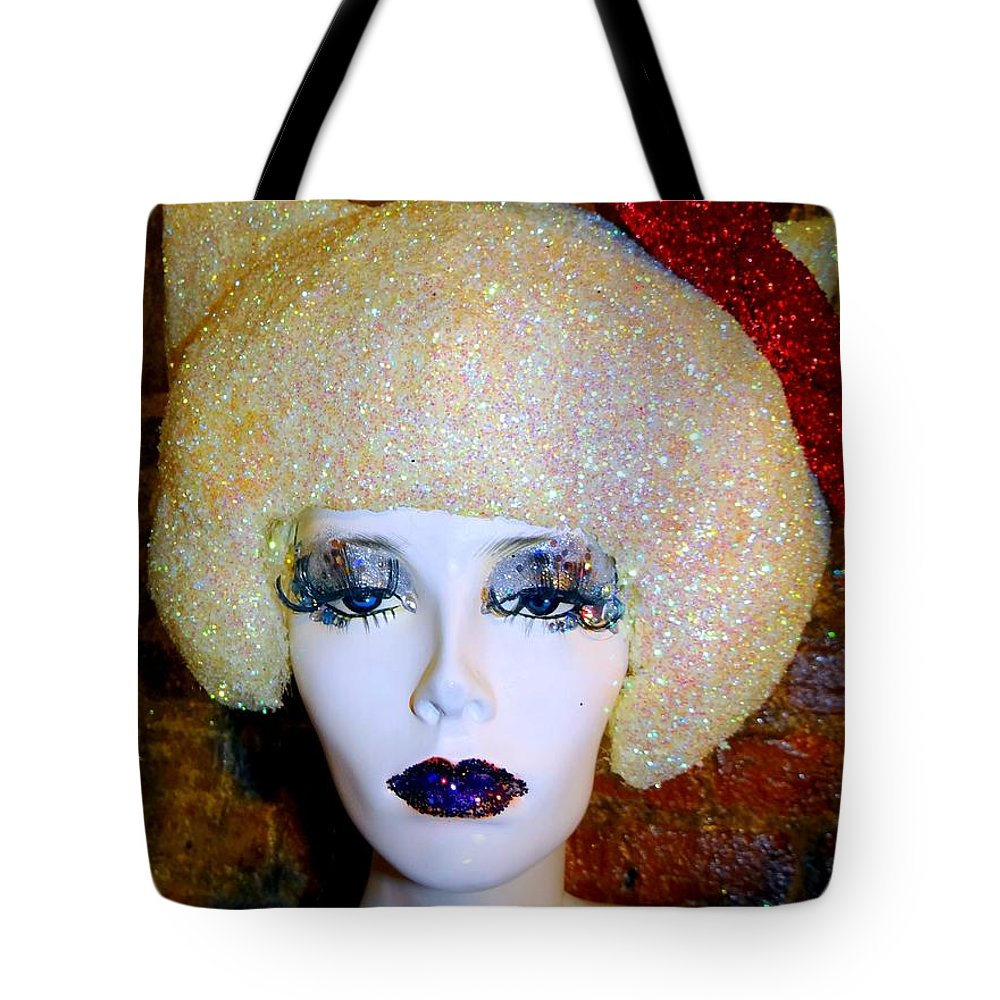 Mannequins Tote Bag featuring the photograph Blonde Fro by Ed Weidman