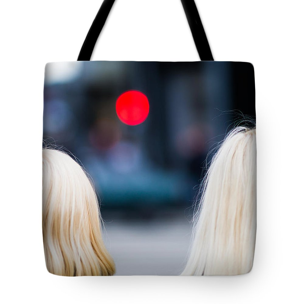 Back Tote Bag featuring the photograph Blondes Are Not Allowed by Alexander Senin