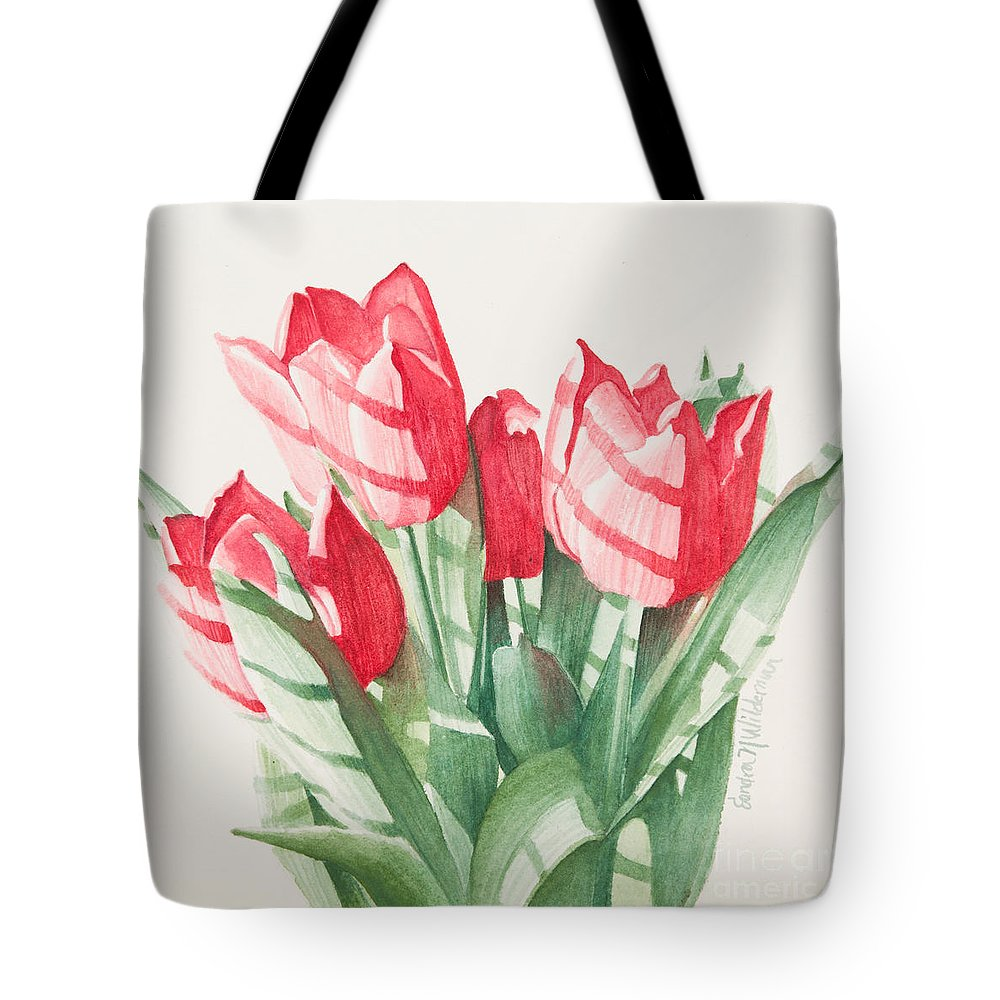 Flowers Tote Bag featuring the painting Sunlit Tulips by Sandra Neumann Wilderman