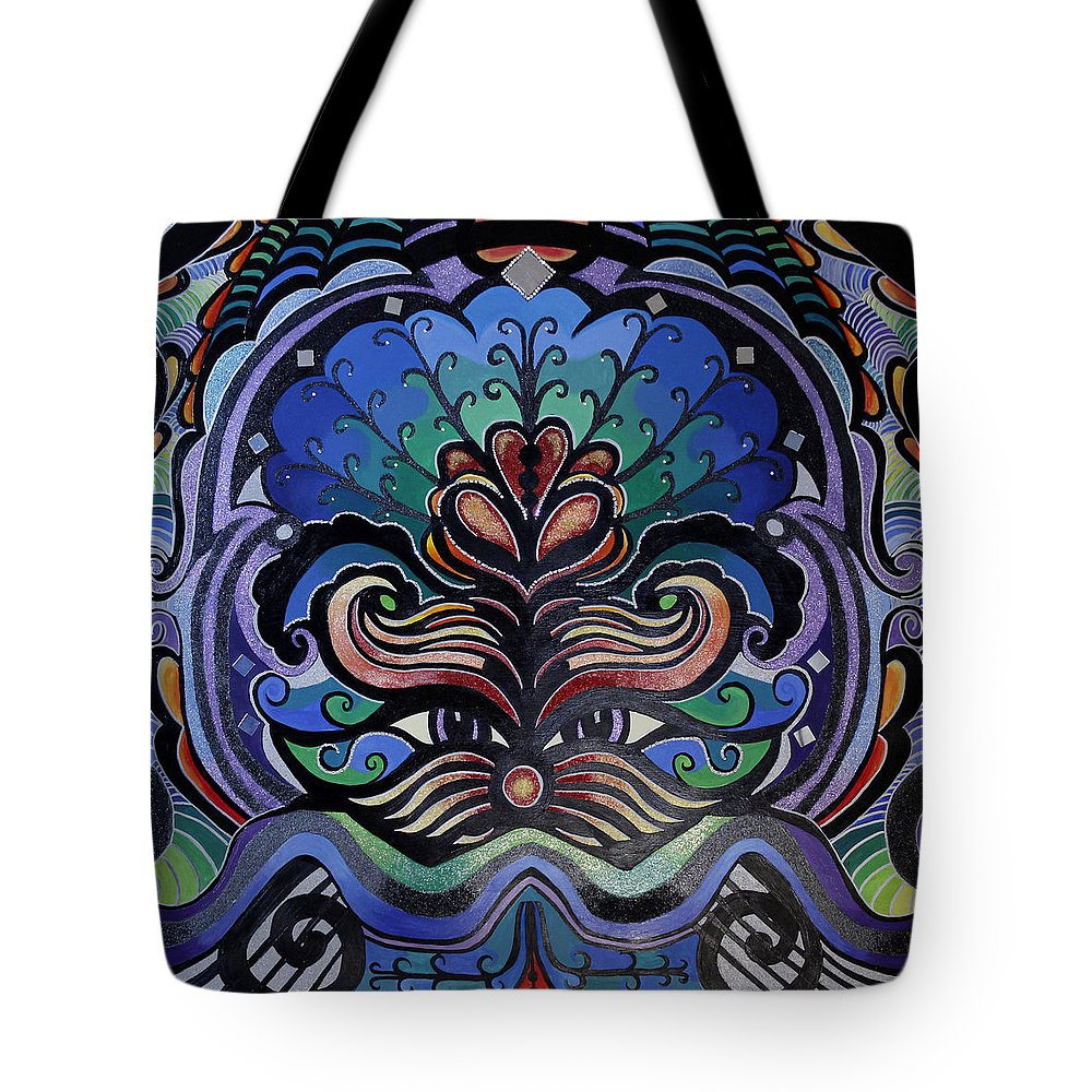 Acrylic Tote Bag featuring the painting Blooming Soul by Adrianna Auriemma