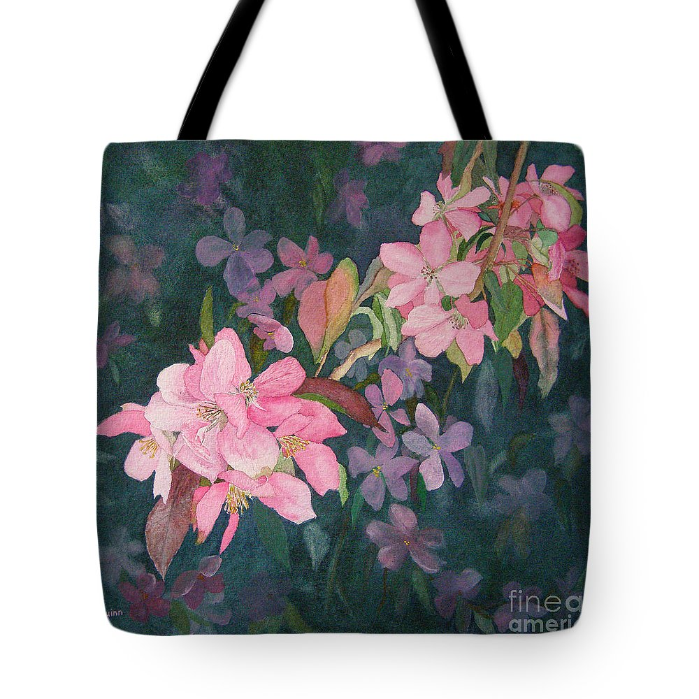 Blossoms Tote Bag featuring the painting Blossoms For Sally by Lynn Quinn