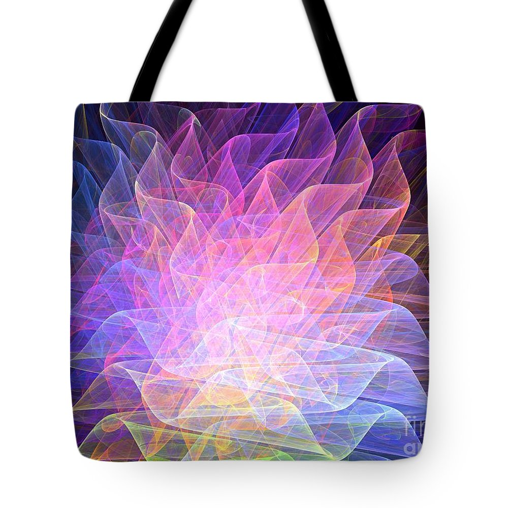 Apophysis Tote Bag featuring the digital art Blossoms by Kim Sy Ok
