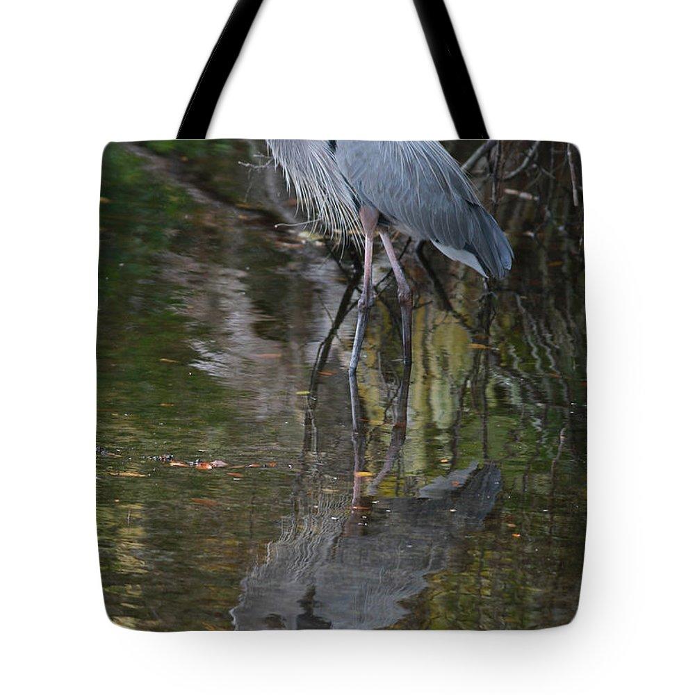 Blue Heron Tote Bag featuring the photograph Blue 1212 by Deborah Benoit
