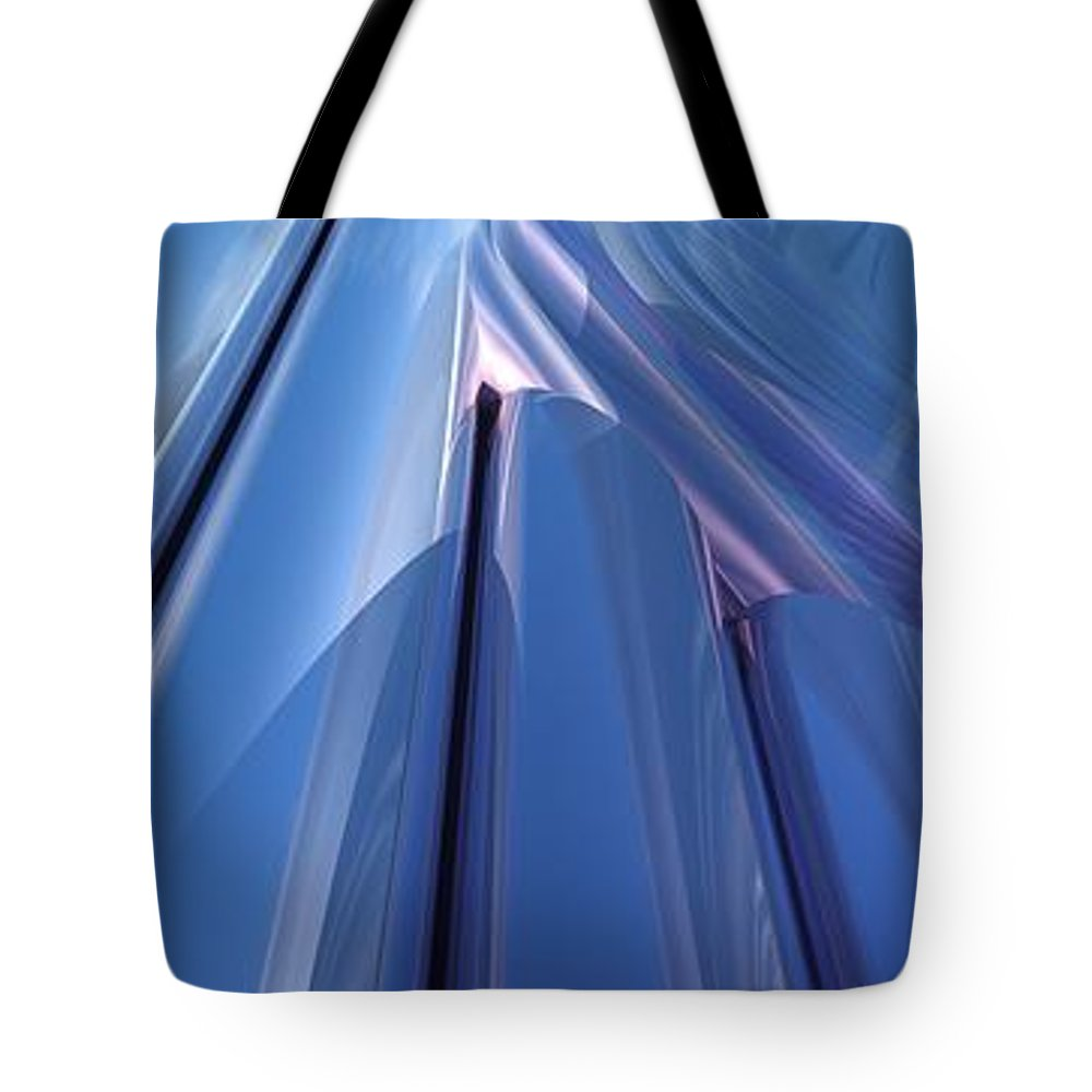Blue Tote Bag featuring the digital art Blue Abstract by Lyle Hatch