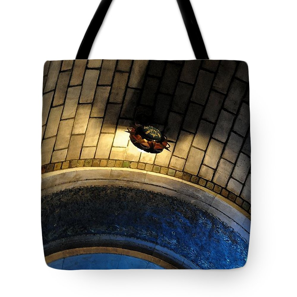 Apse Tote Bag featuring the photograph Blue And Gold In The Apse by Gregory Strong