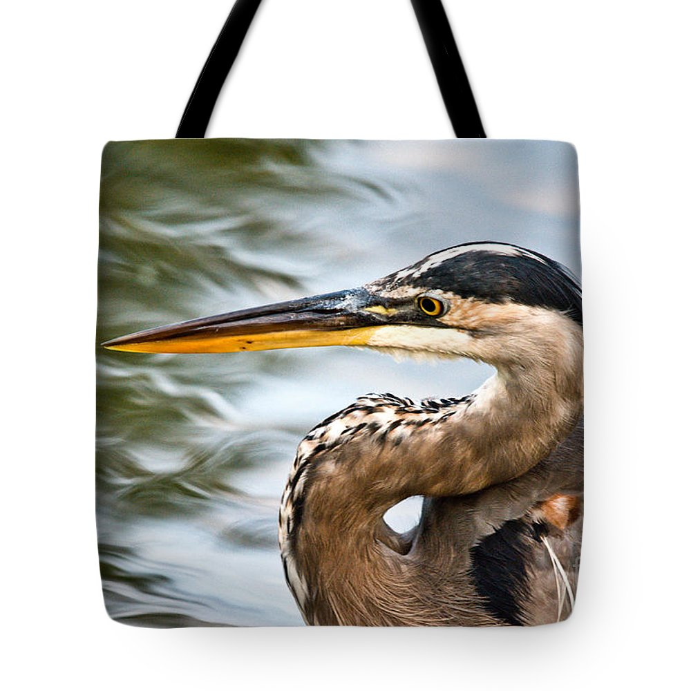 Tote Bag featuring the photograph Blue And Swirly Water by Cheryl Baxter