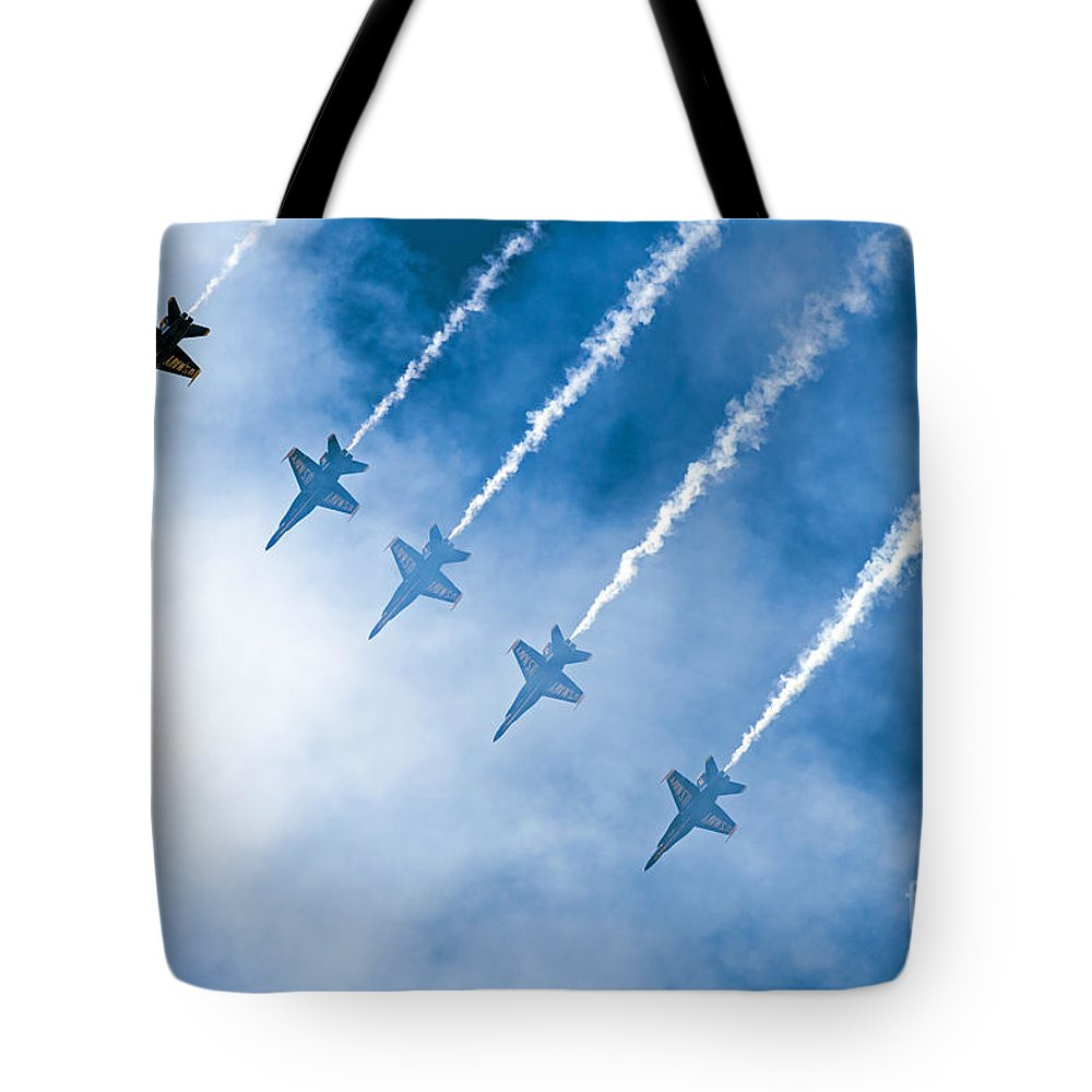Blue Angels Tote Bag featuring the photograph Blue Angels by Kate Brown