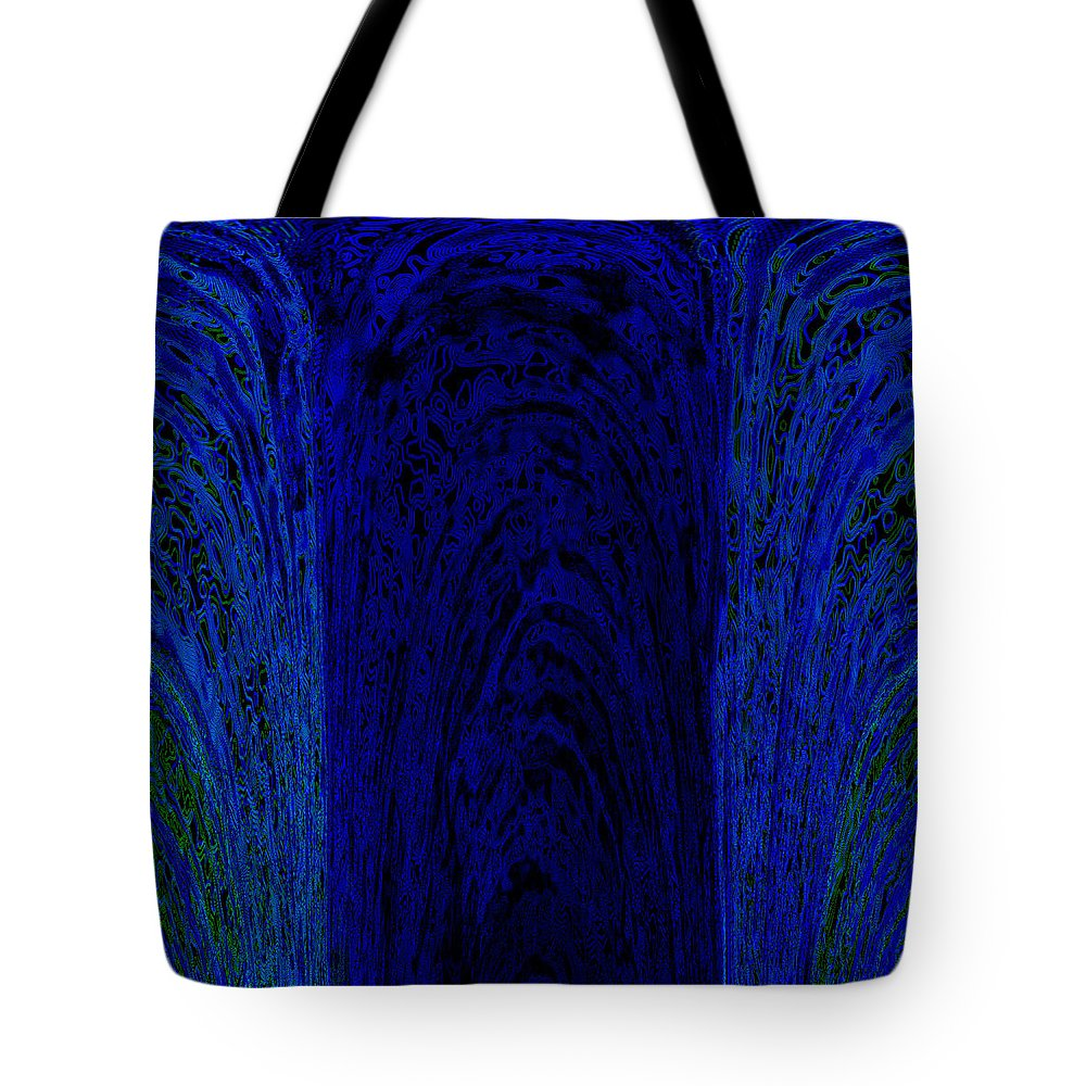 Blue Tote Bag featuring the painting Blue Archways by Alli Cullimore