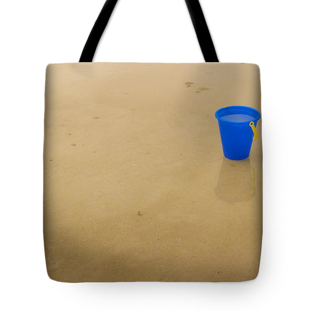 Crane Beach Tote Bag featuring the photograph Blue Beach Bucket by David Stone