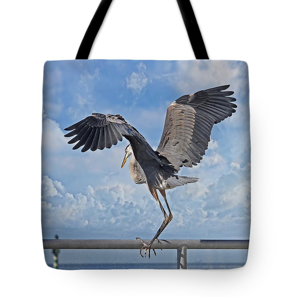 Great Blue Heron Tote Bag featuring the photograph Blue Boy by HH Photography of Florida