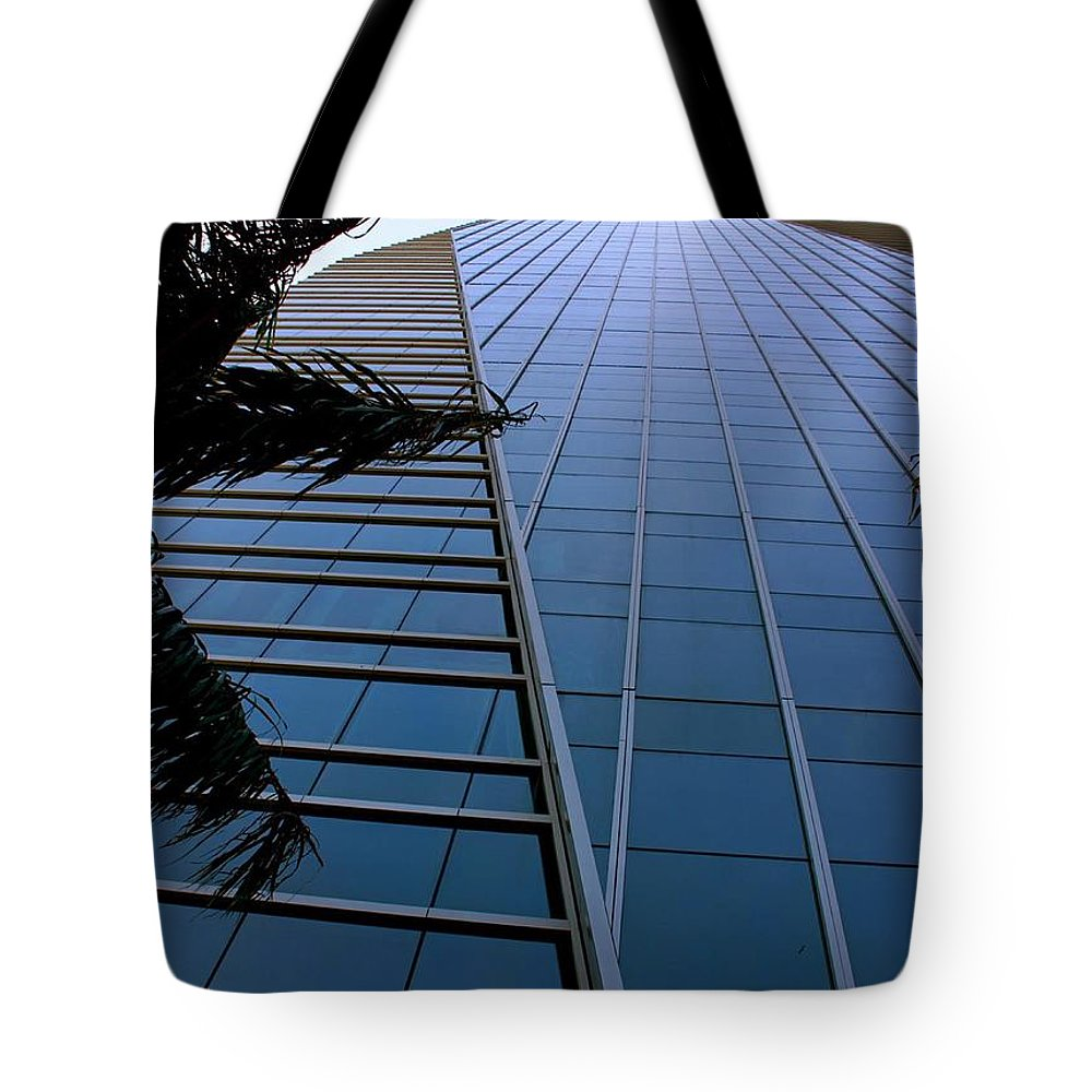Business City Skyscraper Building Architecture Blue Tote Bag featuring the photograph Blue Business by AR Annahita