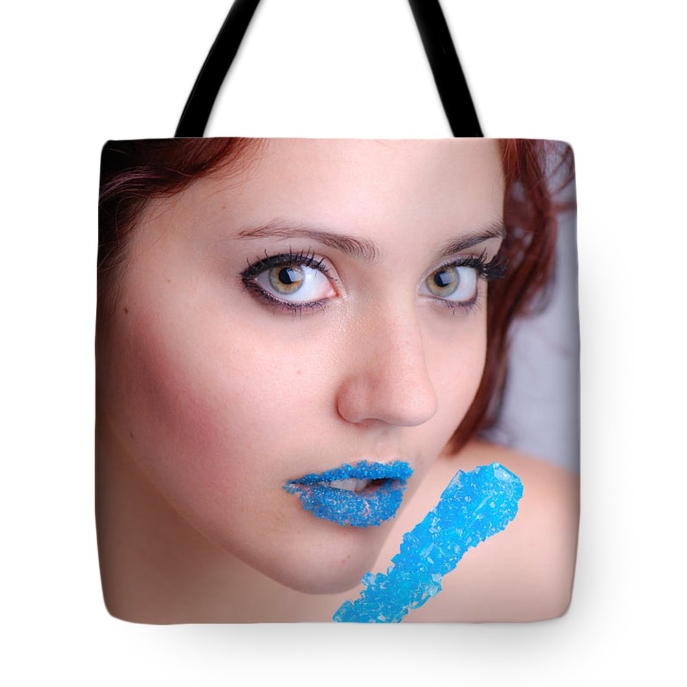 Adult Tote Bag featuring the photograph Blue Candy by Jt PhotoDesign