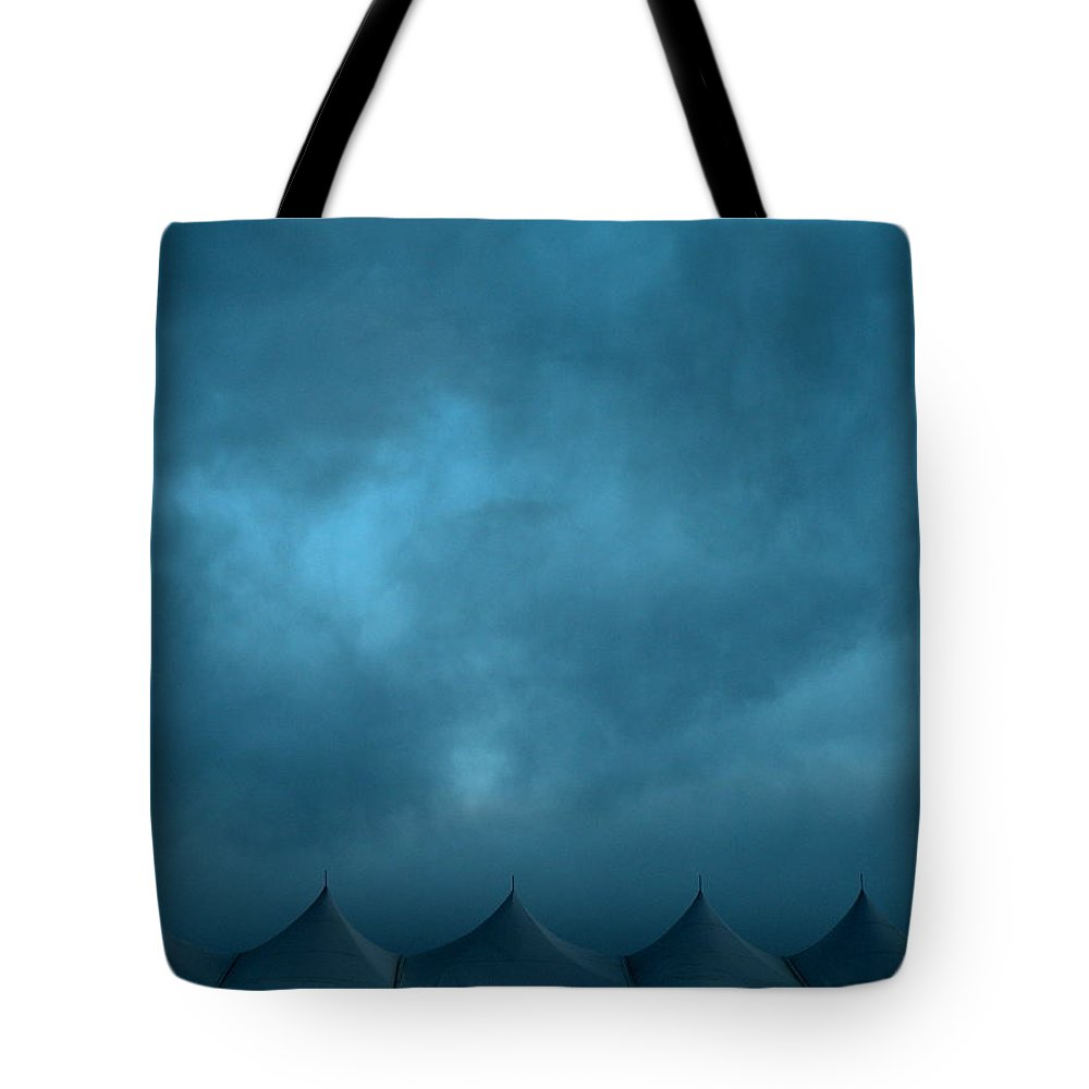 Sky Tote Bag featuring the photograph Blue Carnival by M Pace