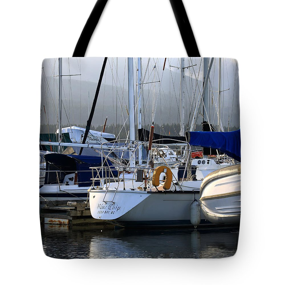 Boat Tote Bag featuring the photograph Blue Chip by Randy Hall
