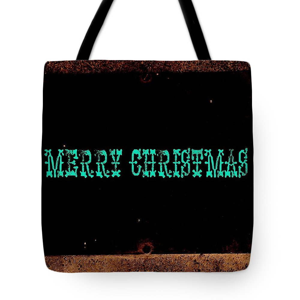 Christmas Tote Bag featuring the photograph Blue Christmas by Chris Berry
