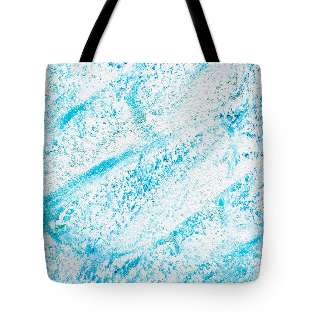 Abstract Tote Bag featuring the photograph Blue Crayon by Tom Gowanlock
