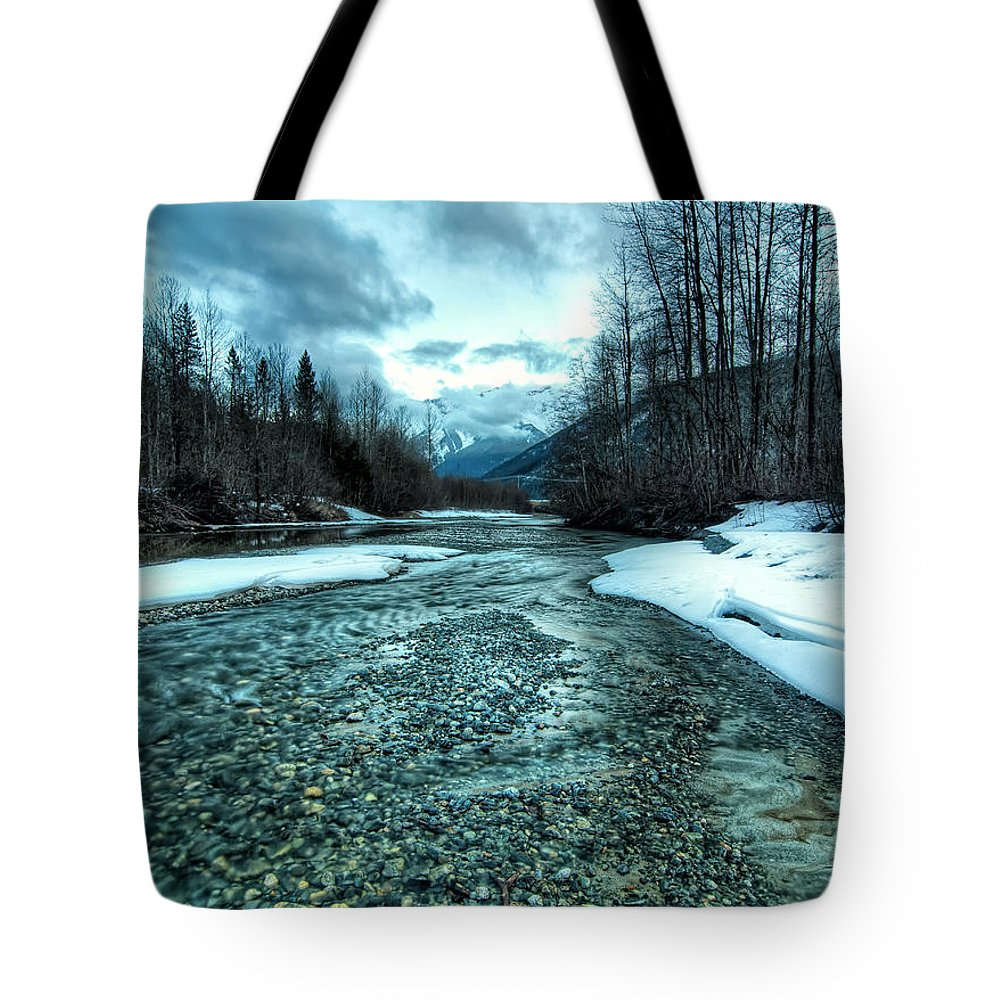 Beautiful Tote Bag featuring the photograph Blue Creek by James Wheeler