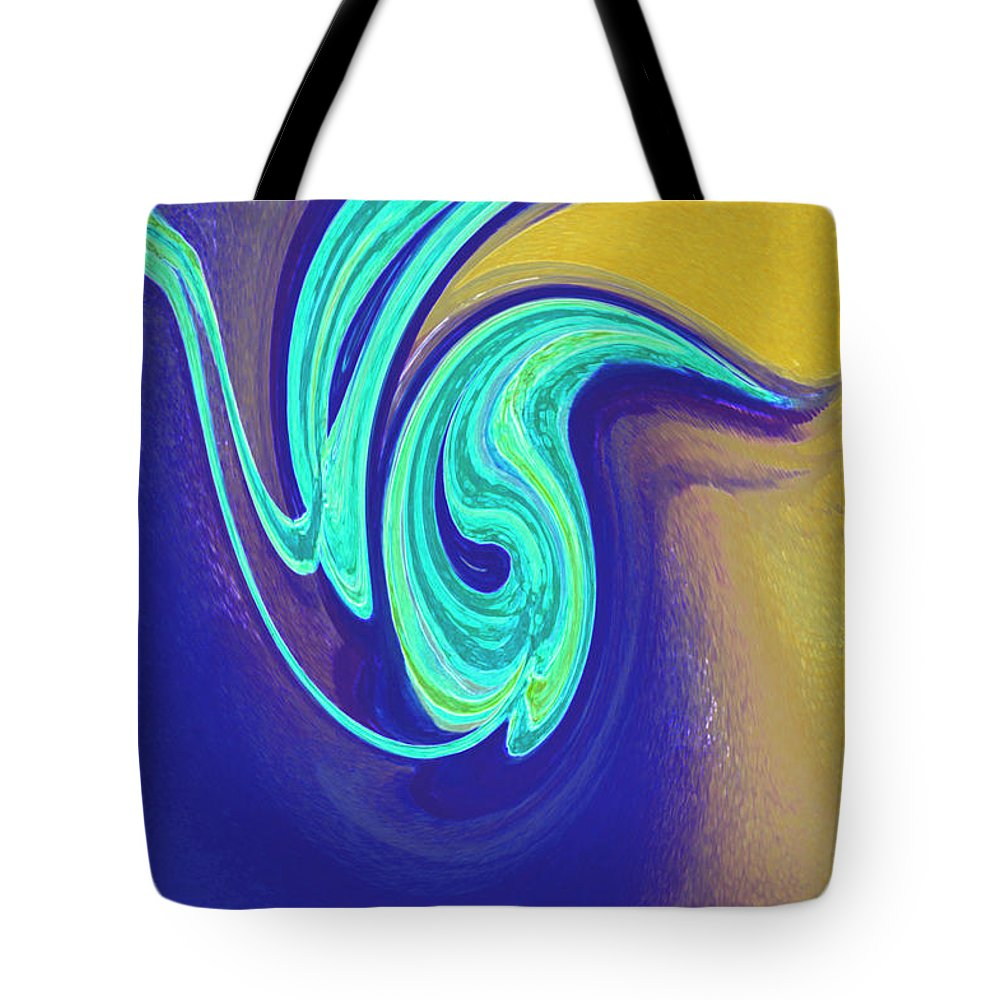 First Star Art Tote Bag featuring the painting Blue Dance By Jrr by First Star Art