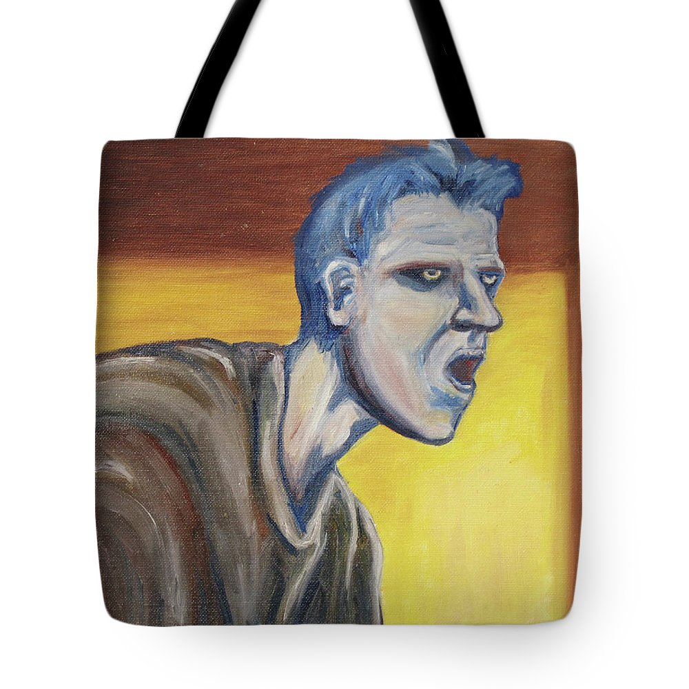 Surreal Tote Bag featuring the painting Blue - External by Jeffrey Oleniacz