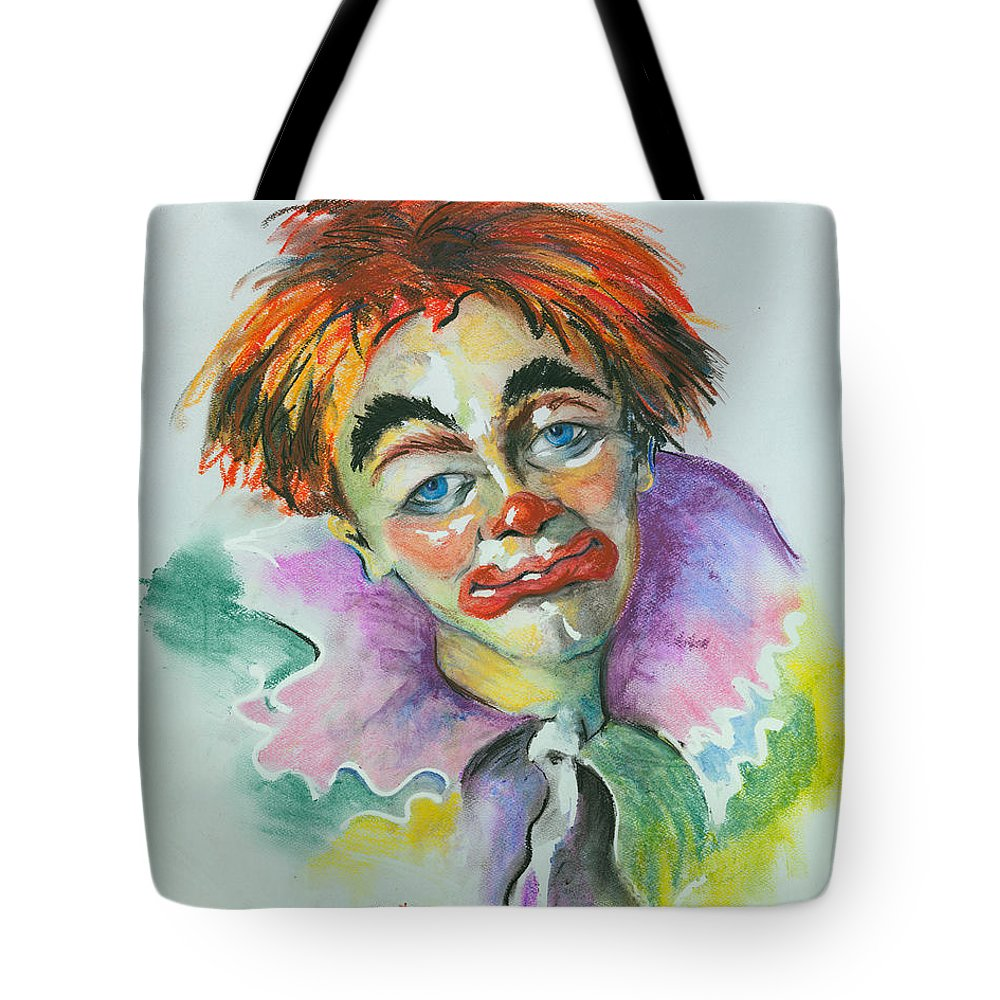 Canvas Print Tote Bag featuring the painting Blue Eyes by Elisabeta Hermann