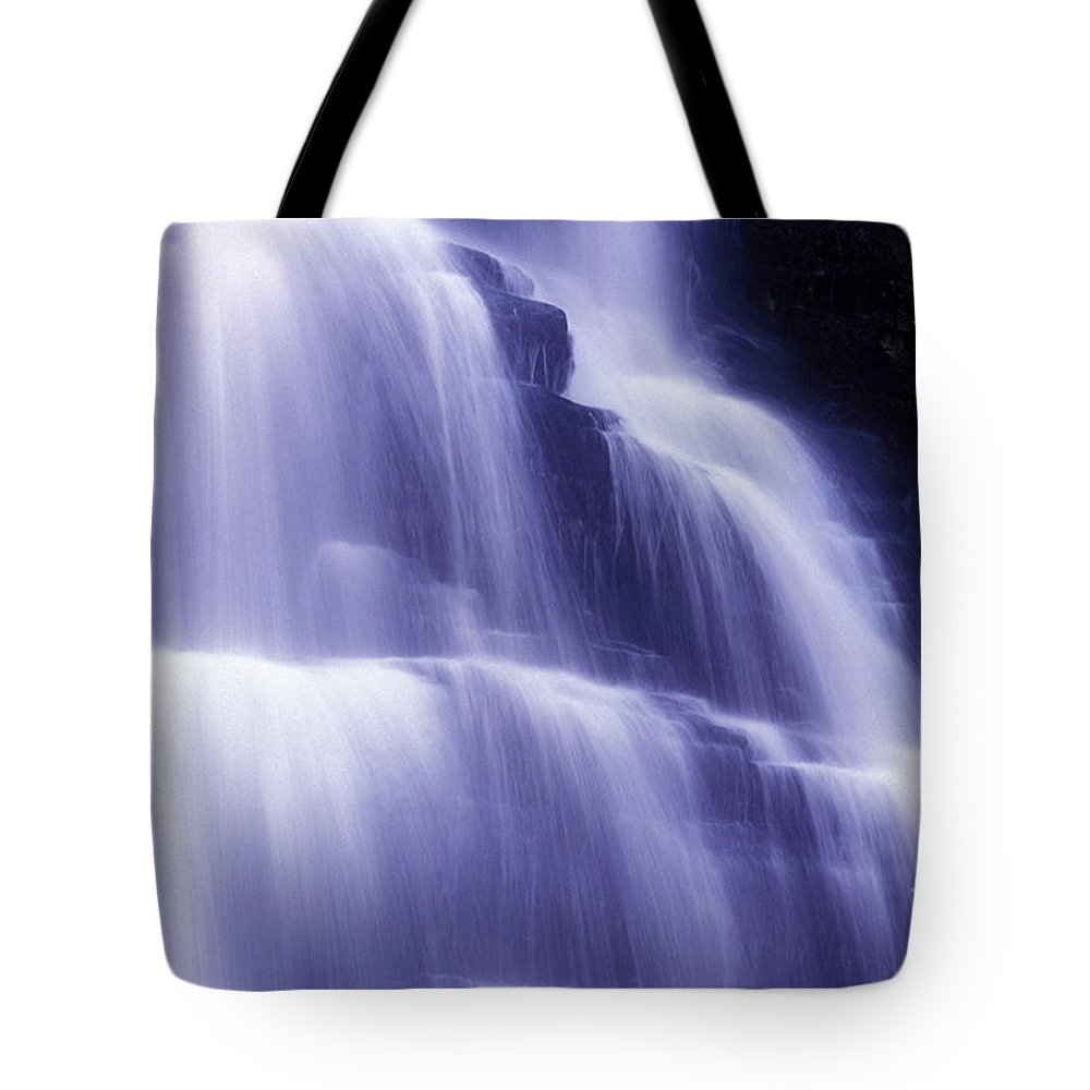Water Tote Bag featuring the photograph Blue Falls by Paul W Faust - Impressions of Light