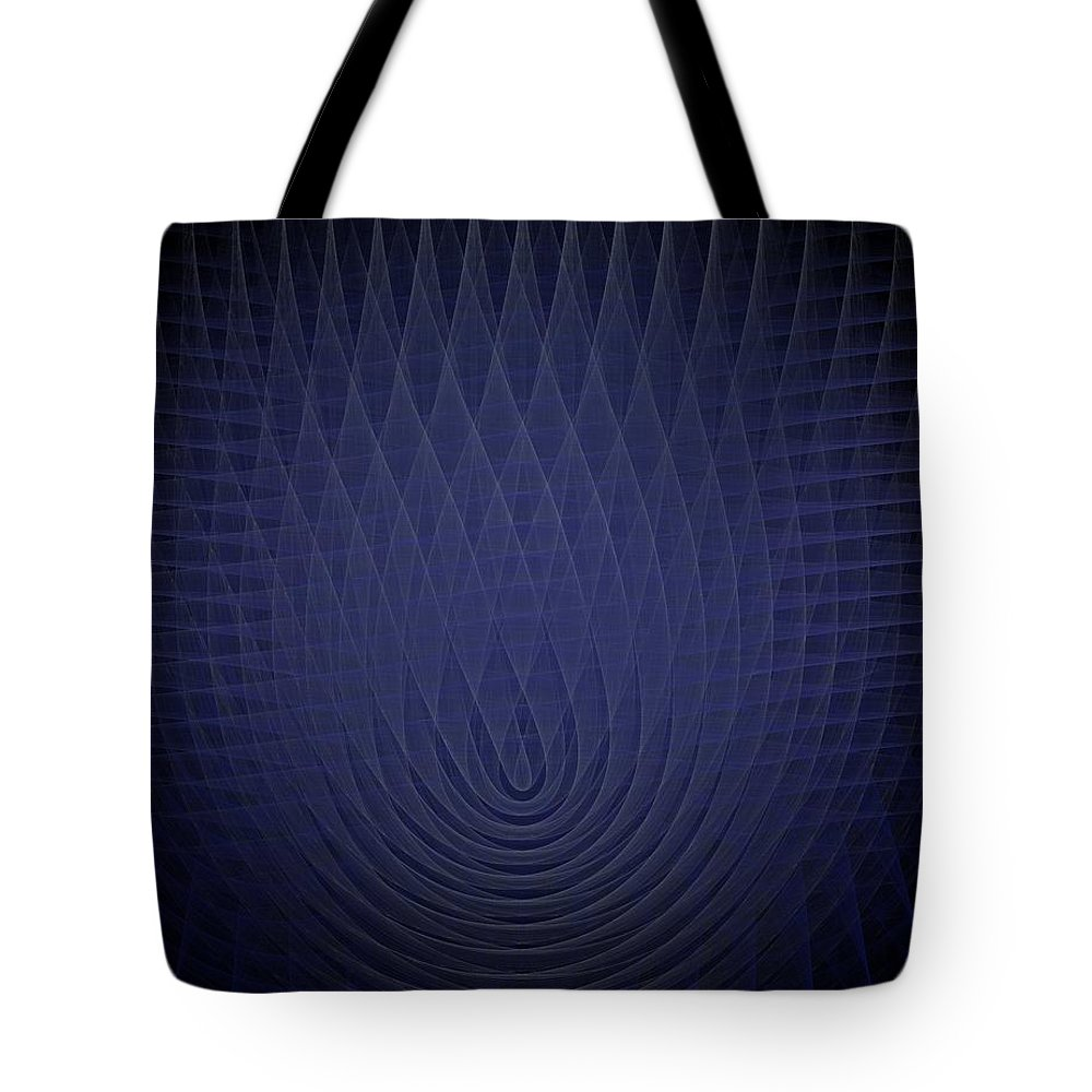 Abstract Tote Bag featuring the painting Blue Fractal Background by Bruce Nutting