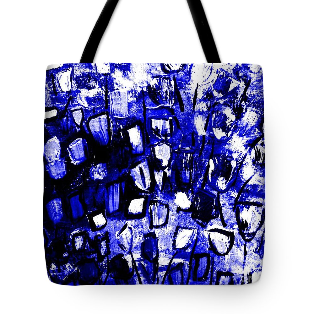 Tote Bag featuring the painting Blue Glass by James and Donna Daugherty