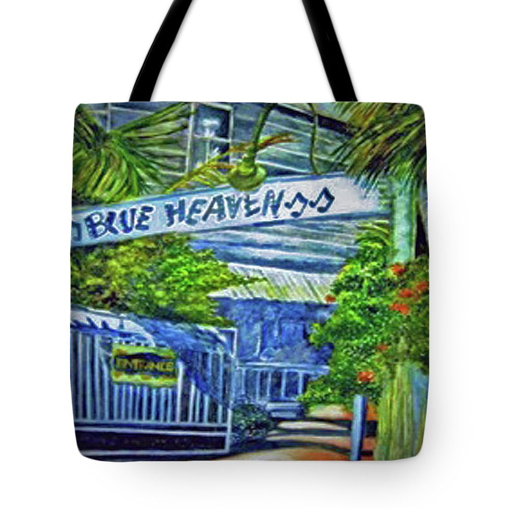 Key West Tote Bag featuring the painting Blue Heaven Key West by Kandy Cross