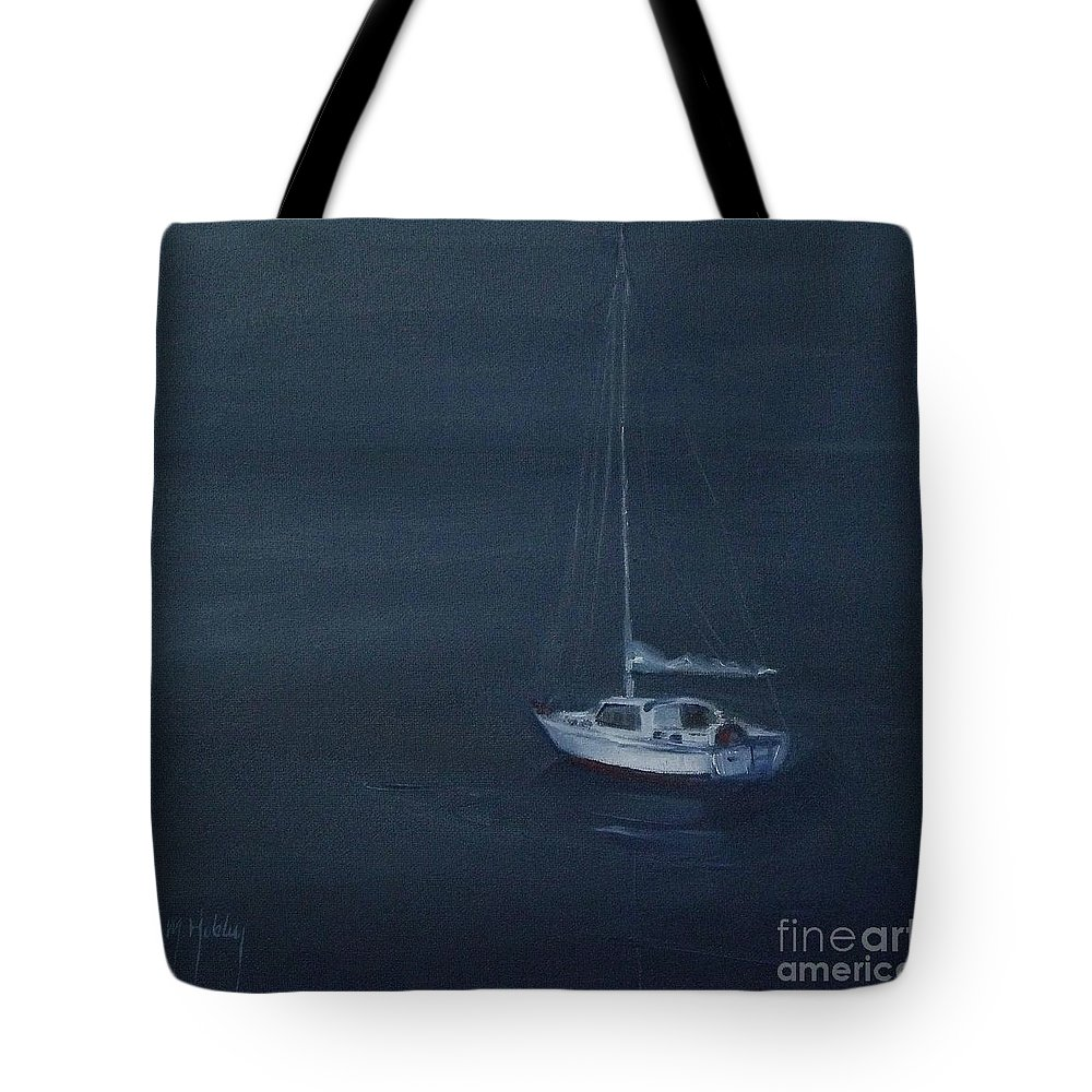 Doodlefly Tote Bag featuring the painting Blue Horizon by Mary Hubley