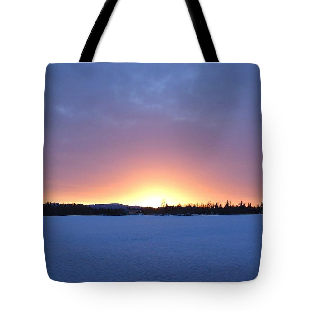 Blue Hour Cariboo Sunset Tote Bag featuring the photograph Blue Hour Cariboo Sunset by Will Borden