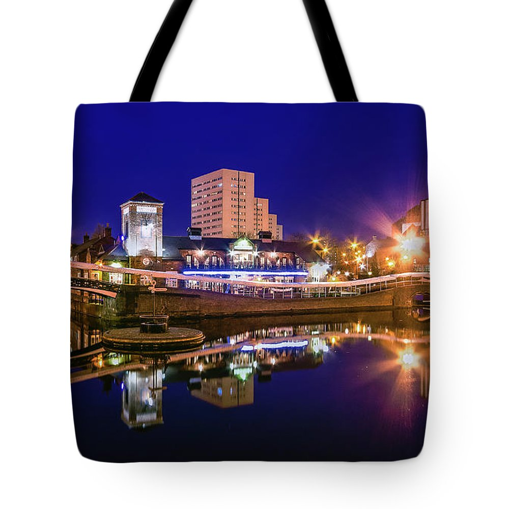Birmingham Tote Bag featuring the photograph Blue Hour In Birmingham by Fiona Mcallister Photography