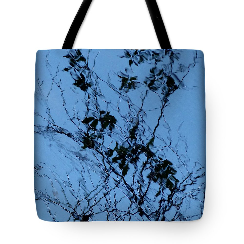 Outdoors Tote Bag featuring the photograph Blue Ink by Charles Ford