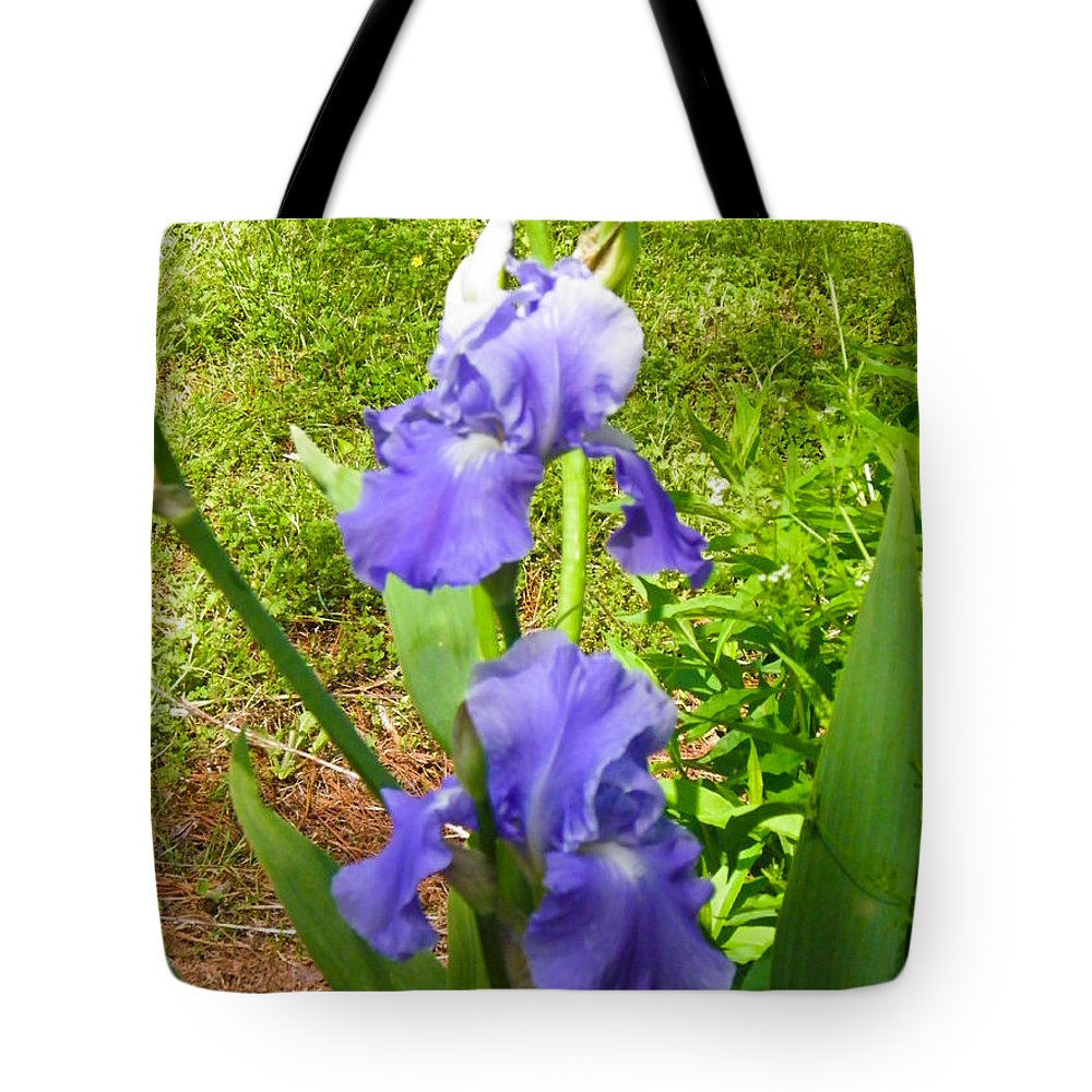 Blue Tote Bag featuring the photograph Blue Iris by Nick Kirby