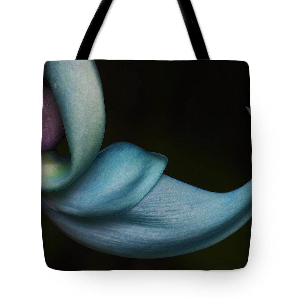 Maui Tote Bag featuring the photograph Blue Jade 1 by Ken Fields