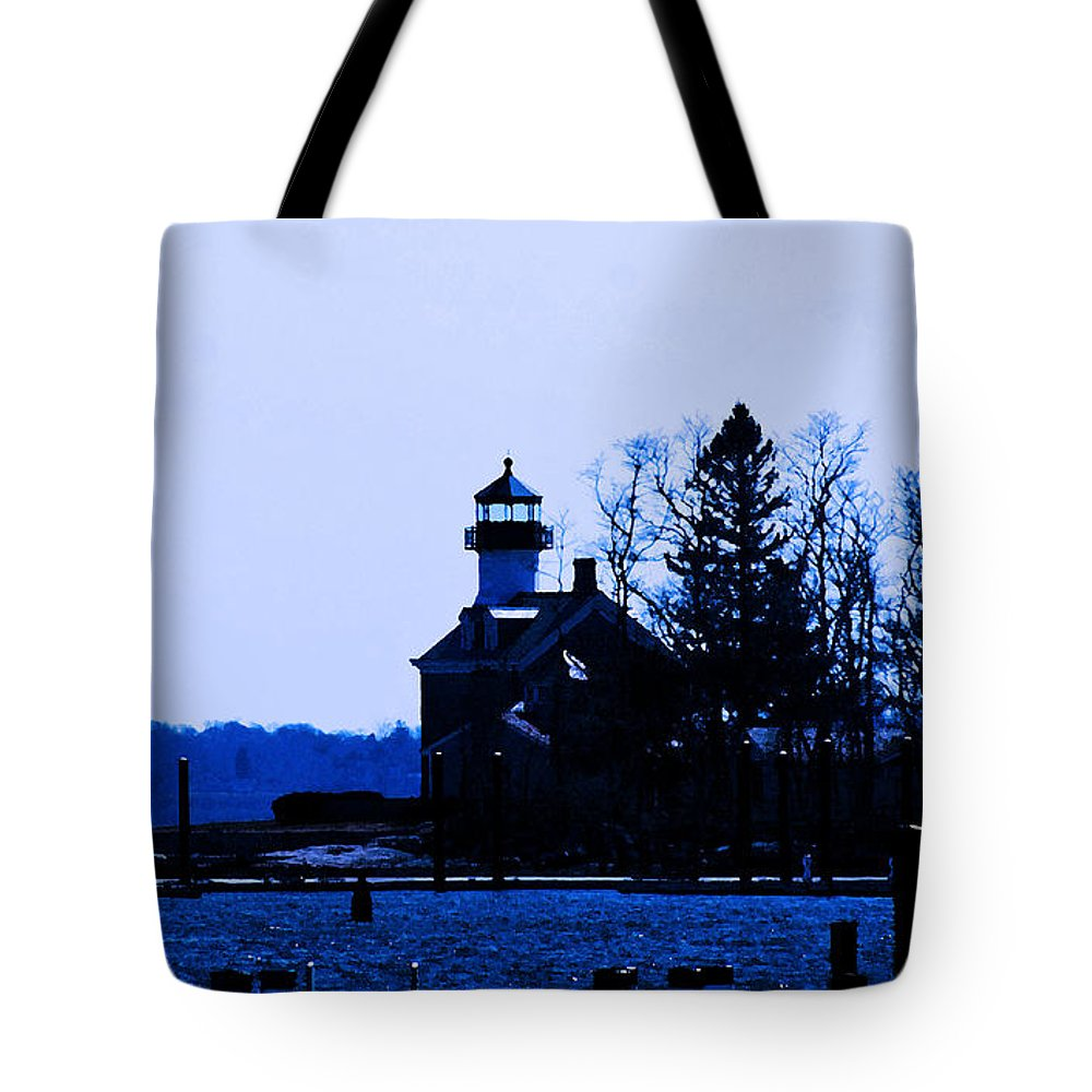 Lighthouse Tote Bag featuring the photograph Blue Monday by Joe Geraci