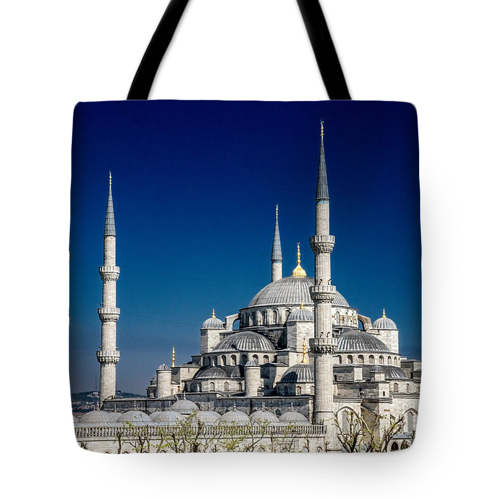 Istanbul Tote Bag featuring the photograph Blue Mosque In Istanbul by For Ninety One Days