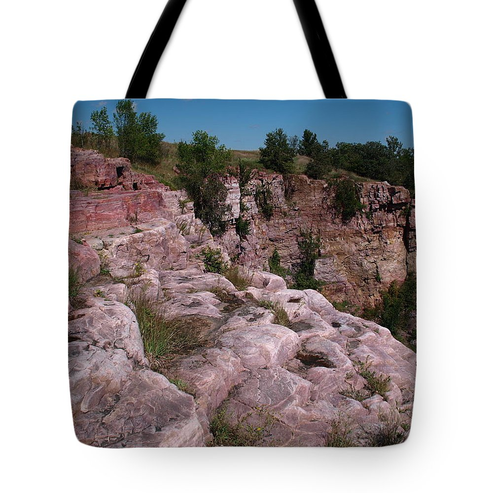 Jim Tote Bag featuring the photograph Blue Mounds Quarry by James Peterson