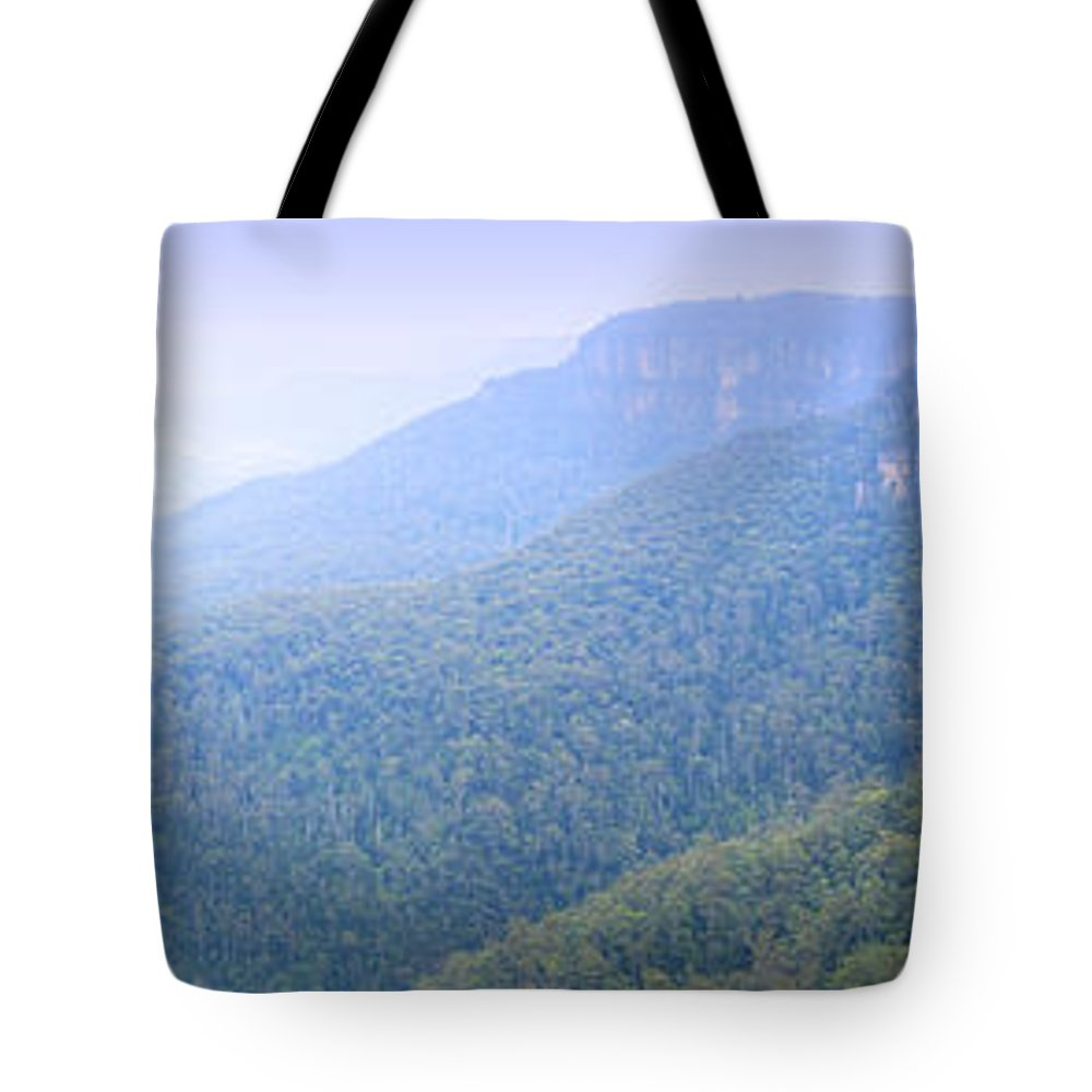 Australia Tote Bag featuring the photograph Blue Mountains Panorama by Tim Hester