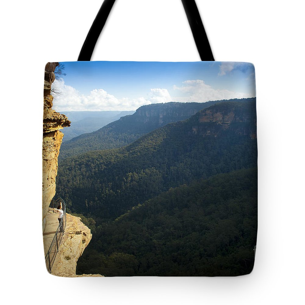 Australia Tote Bag featuring the photograph Blue Mountains Walkway by Tim Hester