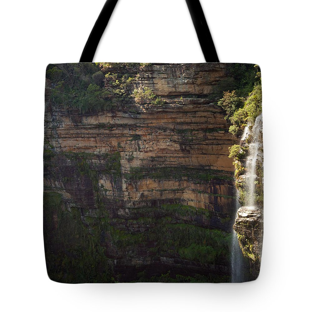 Australia Tote Bag featuring the photograph Blue Mountains Waterfall by Tim Hester