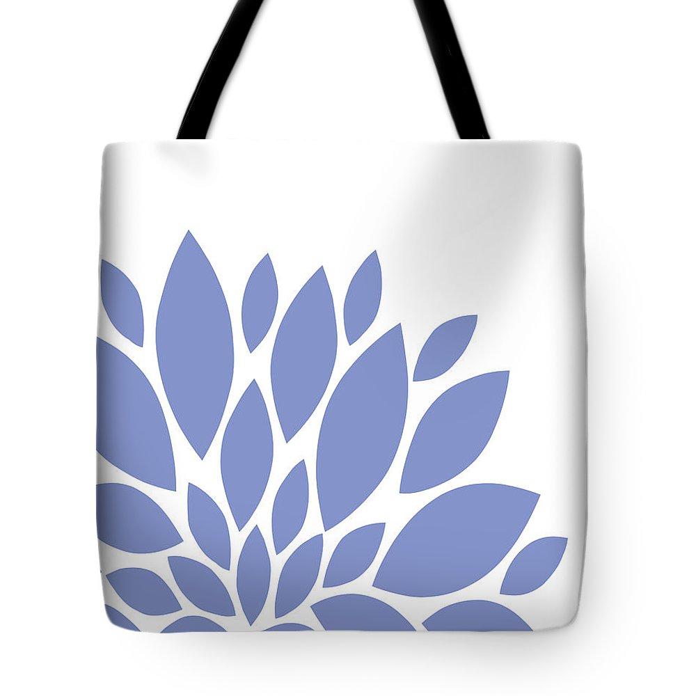 Blue Tote Bag featuring the digital art Blue Peony Flowers by Voros Edit