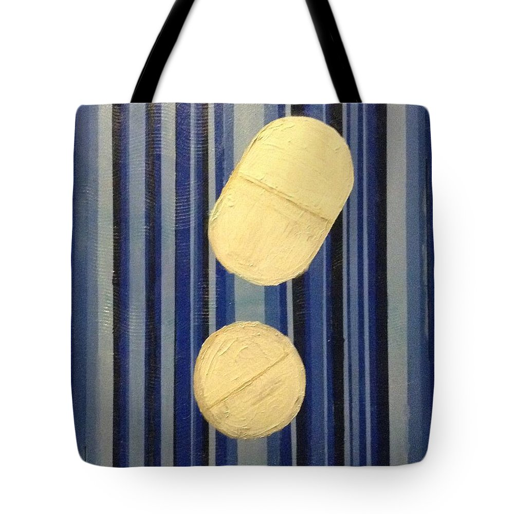 Pills Tote Bag featuring the painting Blue by Regina Jeffers