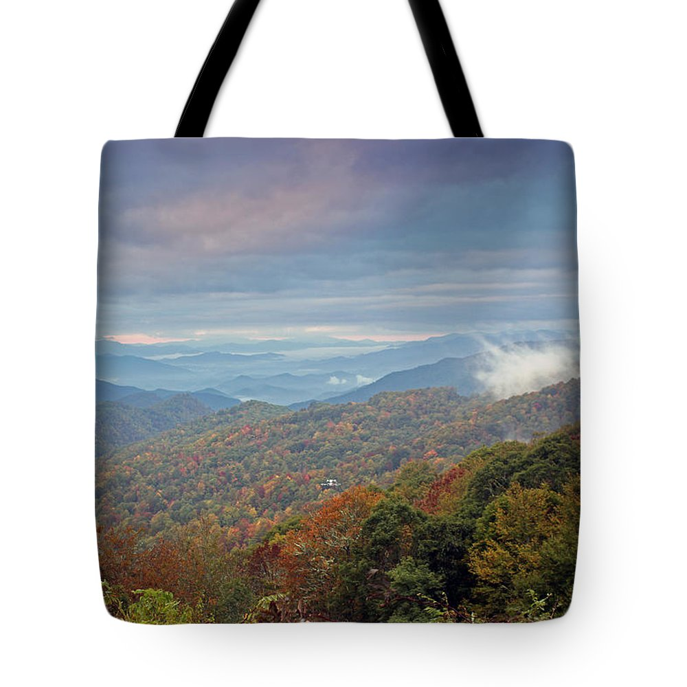 Landscapes Tote Bag featuring the photograph Blue Ridge by Jennifer Robin