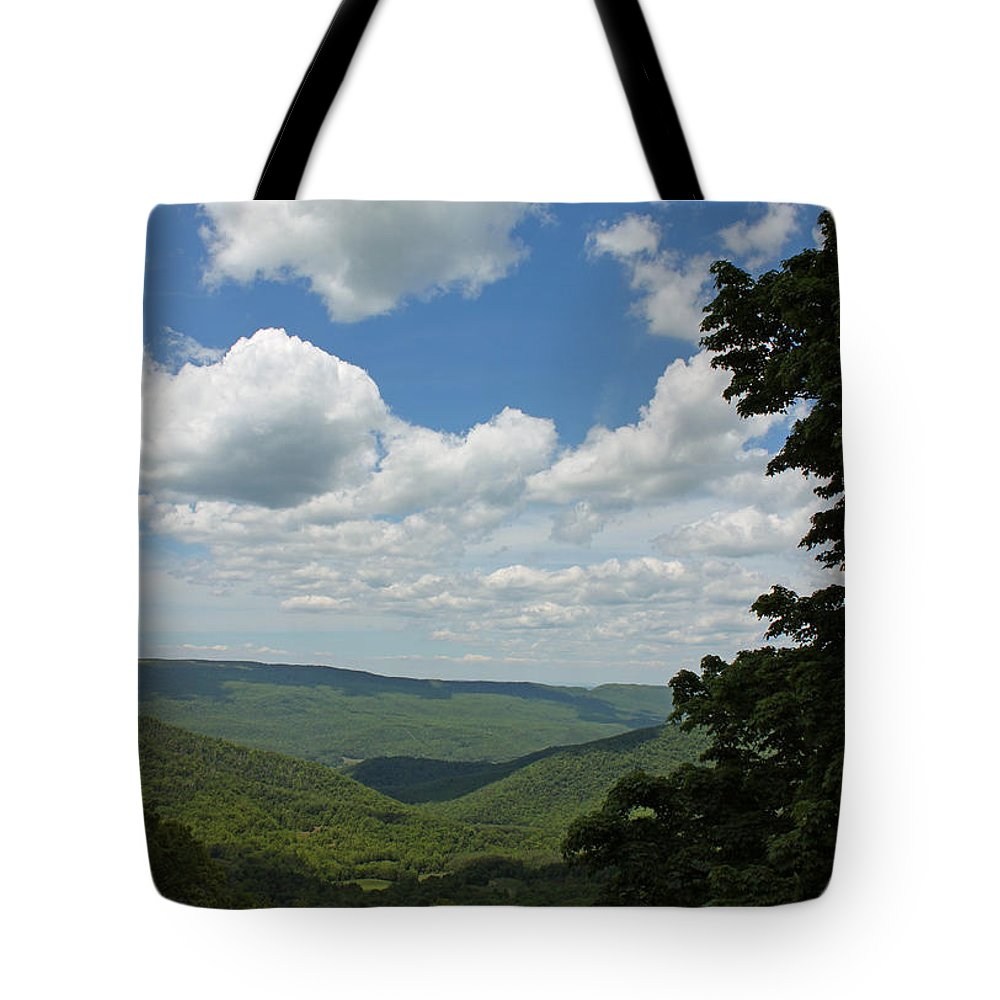 Photograph Tote Bag featuring the photograph Blue Ridge Mountain Scenic - Craig County Va IIi by Suzanne Gaff