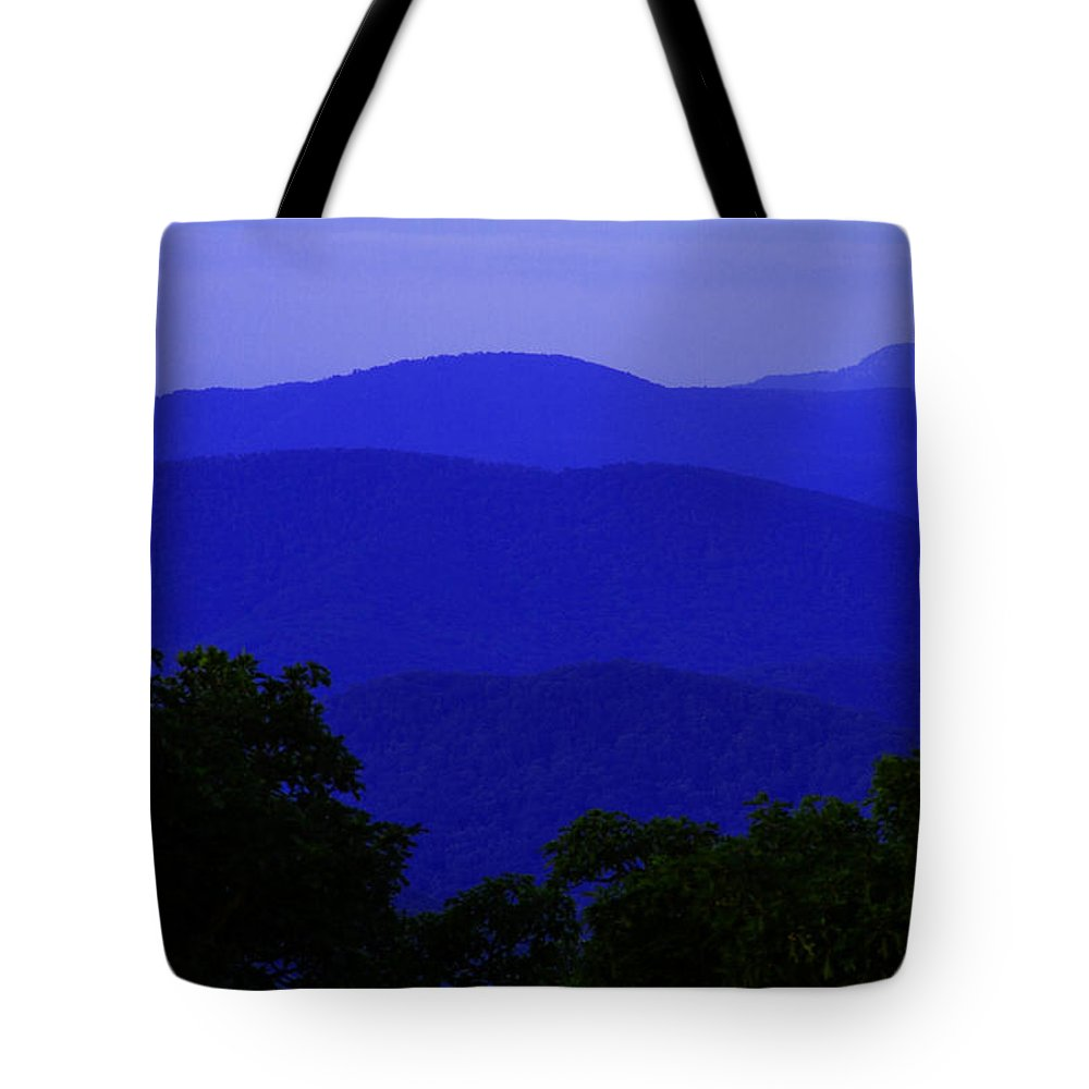 Blue Ridge Tote Bag featuring the photograph Blue Ridge Mountains by Guy Shultz