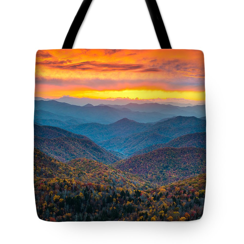 Mountain Sunset Tote Bags